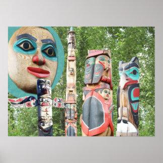 Totem Poles Of Alaska Poster