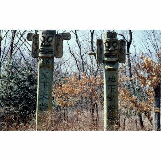 Totem poles photo cutout