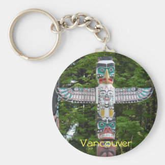 Totem Poles - Stanley Park, Vancouver Basic Round Button Keychain
