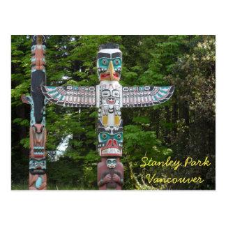 Totem Poles - Stanley Park, Vancouver Postcard