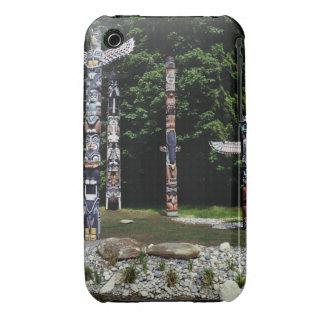 Totem poles, Vancouver, British Colombia iPhone 3 Case