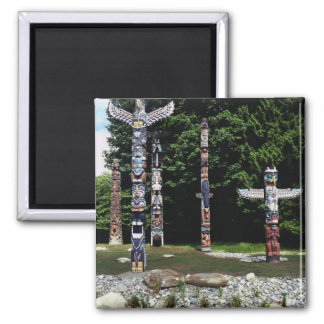 Totem poles, Vancouver, British Colombia Refrigerator Magnets