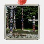 Totem poles, Vancouver, British Colombia Metal Ornament