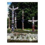 Totem poles, Vancouver, British Colombia Post Card