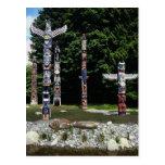 Totem poles, Vancouver, British Colombia Postcard