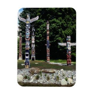 Totem poles, Vancouver, British Colombia Rectangular Photo Magnet