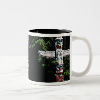 Totem poles, Vancouver, British Colombia Two-Tone Coffee Mug