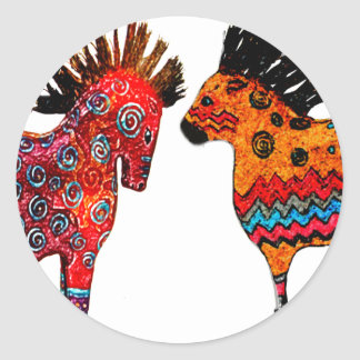 Totem Ponies Gifts and apparel Classic Round Sticker