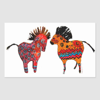 Totem Ponies Gifts and apparel Rectangular Sticker