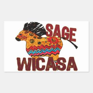 Totem Pony Wicasa the Sage Gifts Rectangular Sticker