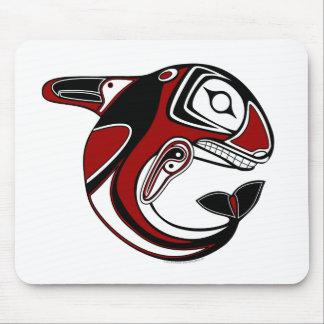 Tótem rojo Mousepad de la ballena