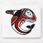 Tótem rojo Mousepad de la ballena Tapetes De Ratón
