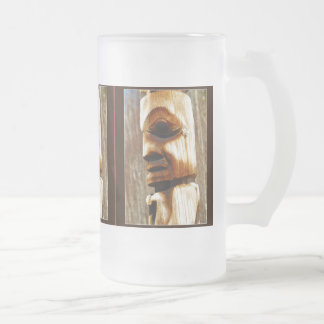 TOTEM SPIRIT Art Collection Frosted Glass Beer Mug