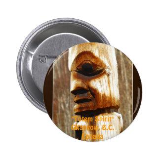 TOTEM SPIRIT Art Collection Pinback Button