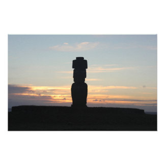 Totem Statue Silhouette Stationery