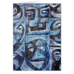 Totem style faces greeting card