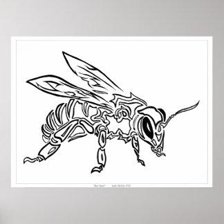 """""""Tótem tribal abstracto surrealista a de la abeja Póster"""