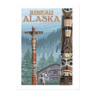 Tótemes de Alaska - Juneau, Alaska Postales