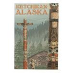 Tótemes de Alaska - Ketchikan, Alaska Cuadros De Madera