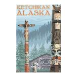 Tótemes de Alaska - Ketchikan, Alaska Impresiones En Lona