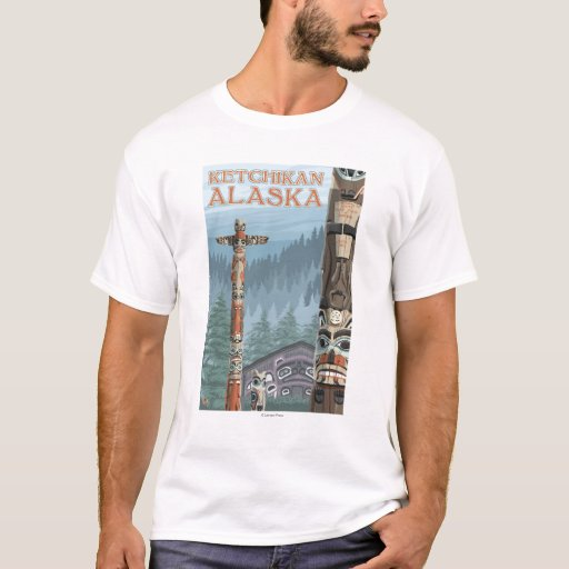 Tótemes de Alaska - Ketchikan, Alaska Playera