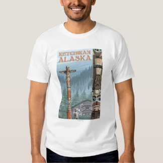 Tótemes de Alaska - Ketchikan, Alaska Playeras