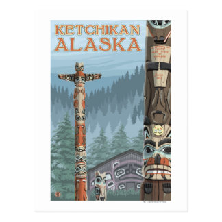 Tótemes de Alaska - Ketchikan Alaska Postal