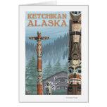 Tótemes de Alaska - Ketchikan, Alaska Tarjetón
