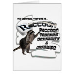 TOTEMS TOTEM RACCOON TEACHES DEXTERITY / DISGUISE GREETING CARD