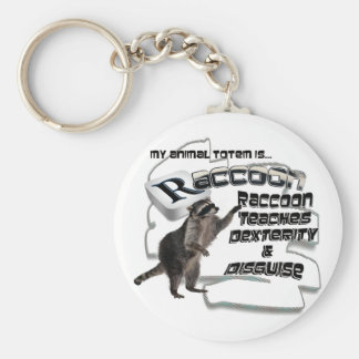TOTEMS TOTEM RACCOON TEACHES DEXTERITY / DISGUISE BASIC ROUND BUTTON KEYCHAIN