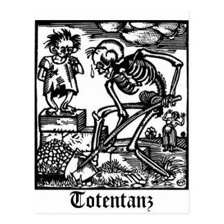 Totentanz Death and the Boy postcard