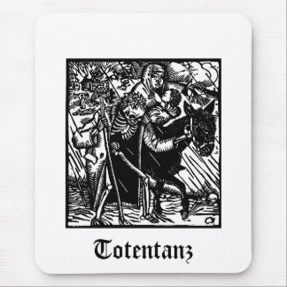 Totentanz Death escorts a mother and babe mousepad