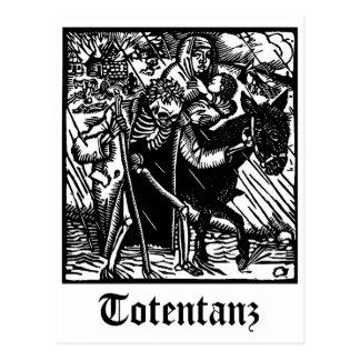 Totentanz Death escorts a Mother and Bae postcard