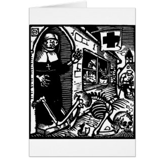 Totentanz Nun and Skeleton Get Well Soon card