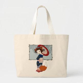 Totes del geisha de Kitsune Bolsa De Mano