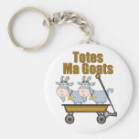 Totes Ma Goats Basic Round Button Keychain