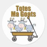 Totes Ma Goats Classic Round Sticker