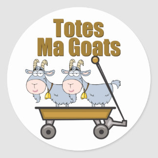 Totes Ma Goats Classic Round Sticker
