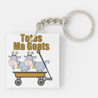 Totes Ma Goats Double-Sided Square Acrylic Keychain