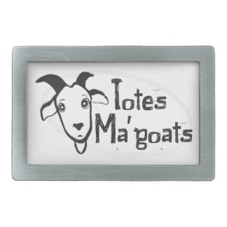 Tote's Ma' Goats Rectangular Belt Buckle