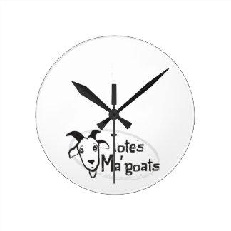 Tote's Ma' Goats Round Clock