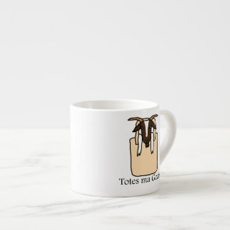 Totes ma Goats (With Text) 6 Oz Ceramic Espresso Cup