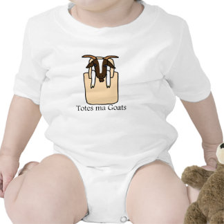 Totes ma Goats With Text Baby Bodysuit