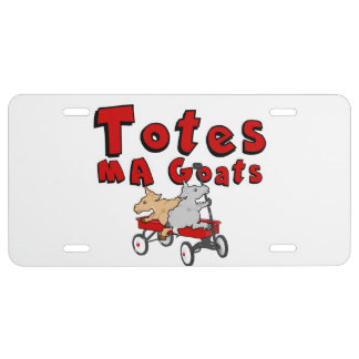 Totes MaGoats  Funny Goat License Plate