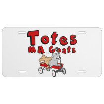 Totes MaGoats  Funny Goat License Plate License Plate