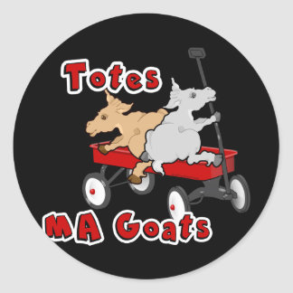 Totes MaGoats FunnY Goat Meme Classic Round Sticker