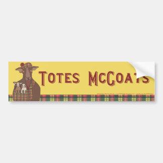 Totes McGoats bumper sticker