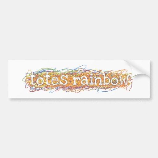 Totes Rainbow Bumper Sticker Car Bumper Sticker