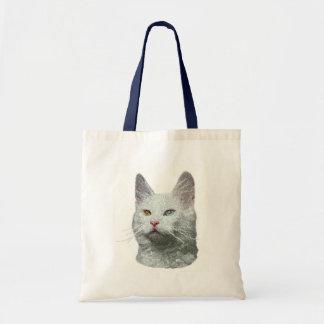 Totes turcos del gato del angora bolsa tela barata