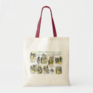 Totes with scenes from Pride and Prejudice Bags